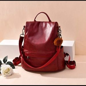Handbags - Beautiful Burgandy Red Backpack 🎒♥️
